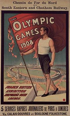 Poster Stamps And Labels Of The Olympic Games 1908