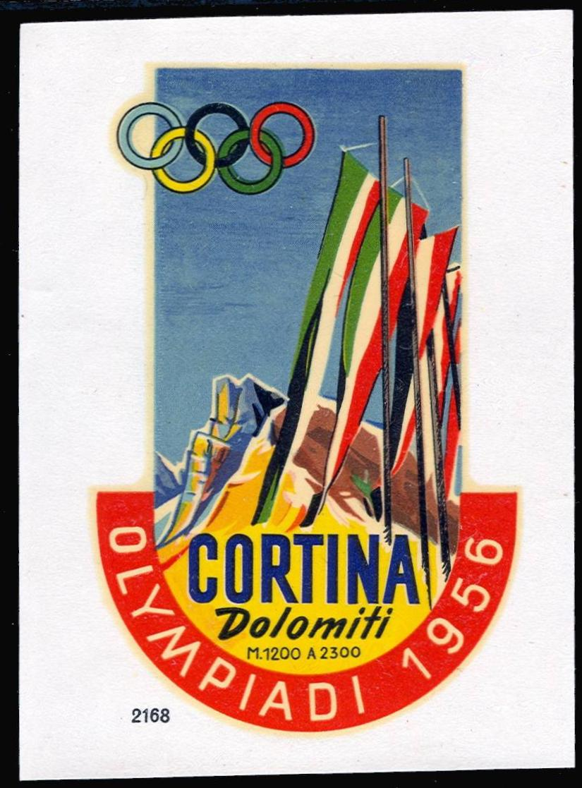 Poster Stamps And Labels Of The Olympic Games 1956 Winter